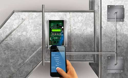 Easily verify airflow rates with smartphone